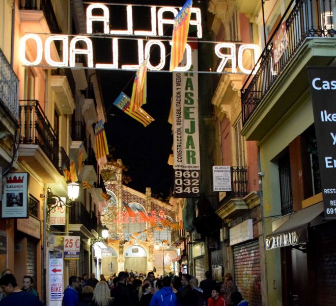 fallas valencia street nihgt